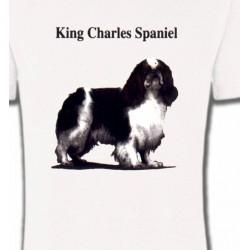 T-Shirts Cavalier King Charles Cavalier King Charles Noir et Blanc (C)