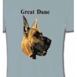 T-Shirts Dogue Allemand Tête de Dogue Allemand (E)