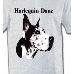 T-Shirts Dogue Allemand Dogue Allemand Noir et Blanc (C)