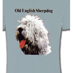 T-Shirts Bobtail berger anglais Tête de Bobtail Berger Anglais  (A)