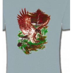 T-Shirts T-Shirts Col Rond Unisexe Aigles en chasse