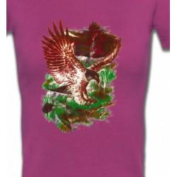 T-Shirts T-Shirts Col V Femmes Aigles en chasse