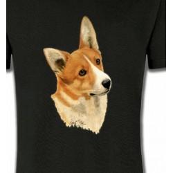 T-Shirts Welsh Corgi Tête de Welsh Corgi (E)