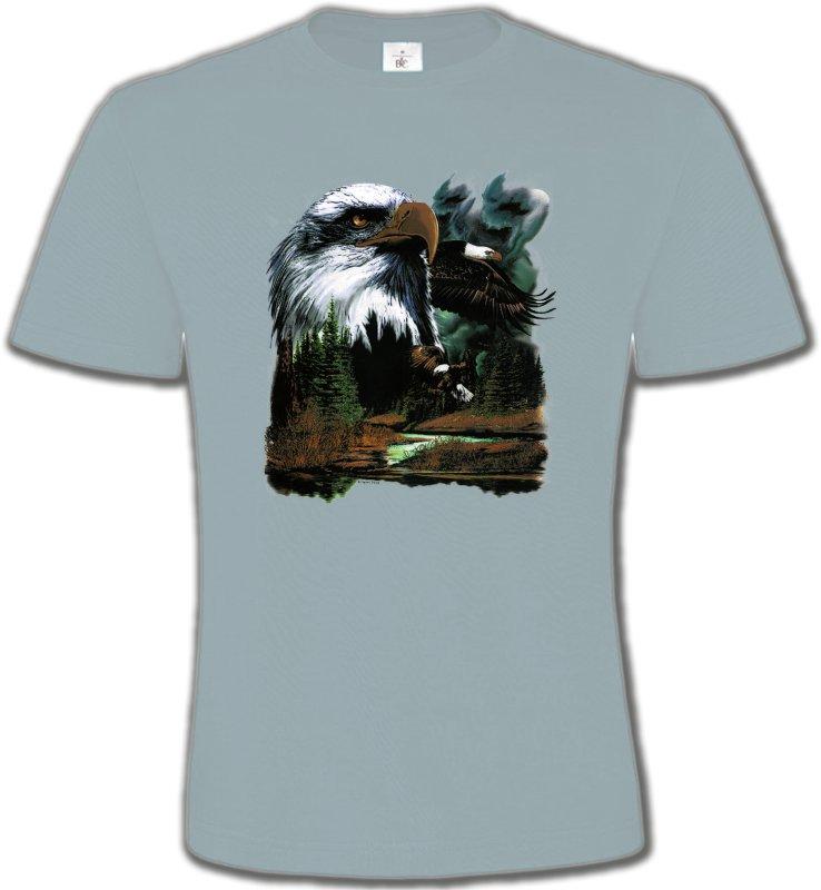 T-Shirts Col Rond UnisexeAiglesAigle royal dans la forêt