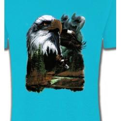 T-Shirts T-Shirts Col Rond Unisexe Aigle royal dans la forêt