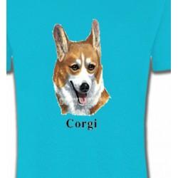 T-Shirts Welsh Corgi Tête de Welsh Corgi (B)