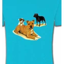 T-Shirts Staffordshire Bull terrier Famille Staffordshire (F)