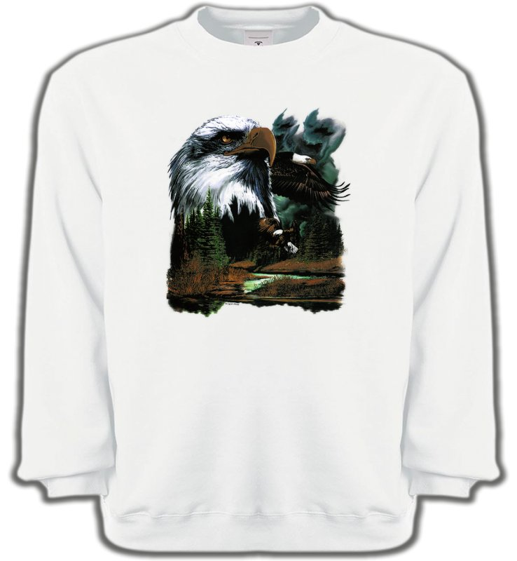 Sweatshirts UnisexeAiglesAigle royal dans la forêt