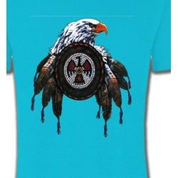 T-Shirts T-Shirts Col Rond Unisexe Aigle royal attrape rêves