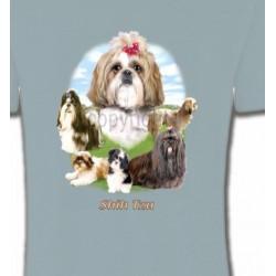 T-Shirts Shih Tzu Shih Tzu paysage  (B)