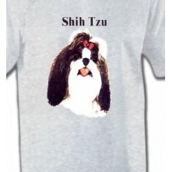 T-Shirts Shih Tzu Tête de Shih Tzu (D)