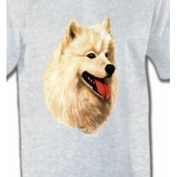 T-Shirts Samoyède Tête de Samoyède