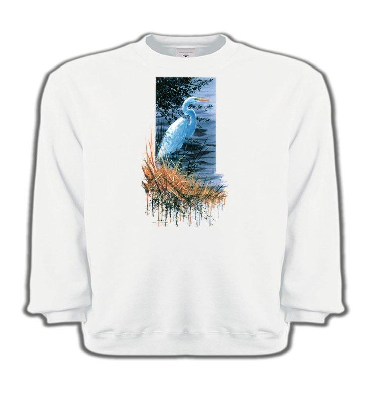 Sweatshirts EnfantsOiseaux diversHéron blanc au bord du lac