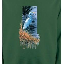 Sweatshirts Sweatshirts Enfants Héron blanc au bord du lac