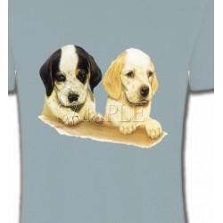 T-Shirts Chiots Deux chiots