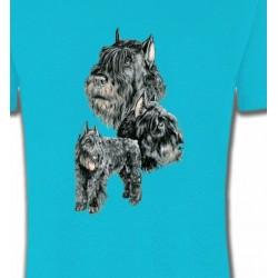 T-Shirts Schnauzer Schnauzer gris