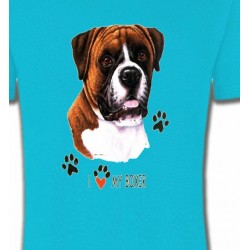 T-Shirts Boxer Boxer brun et blanc (B)
