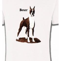 T-Shirts Boxer Boxer brun et blanc (M)