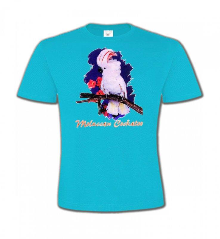 T-Shirts Col Rond Enfantsoiseaux exotiquesPerroquet Cacatoès à huppe rouge (L)