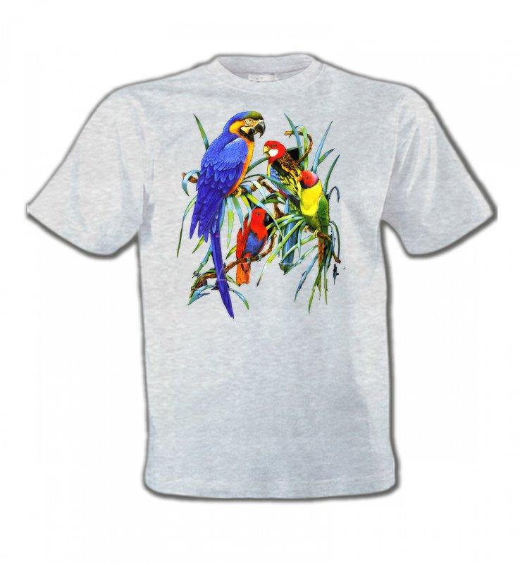 T-Shirts Col Rond Enfantsoiseaux exotiquesPerroquets Ara dans un arbre (T)