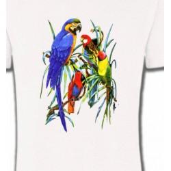 T-Shirts T-Shirts Col Rond Enfants Perroquets Ara dans un arbre (T)