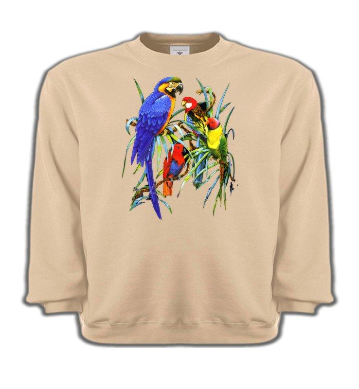 Sweatshirts Enfantsoiseaux exotiquesPerroquets Ara dans un arbre (T)