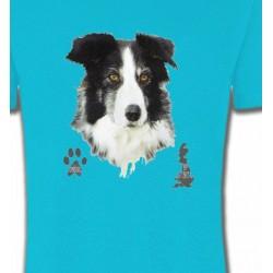 T-Shirts Border Collie Border Collie noir et blanc (A)