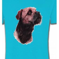 T-Shirts Border Collie Border Collie Terrier brun (L)