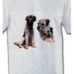 T-Shirts Border Collie Border Collie Terrier gris (M)