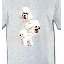 T-Shirts Bichon Frisé Bichon Frisé blanc (J)