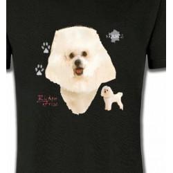 T-Shirts Bichon Frisé Bichon Frisé blanc (C)