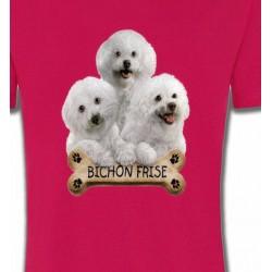 T-Shirts Bichon Frisé Bichon Frisé chiots (A)