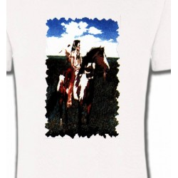 T-Shirts T-Shirts Col Rond Enfants Indien à cheval (P)