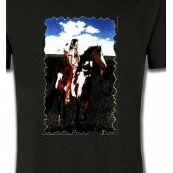 T-Shirts T-Shirts Col Rond Unisexe Indien à cheval (P)