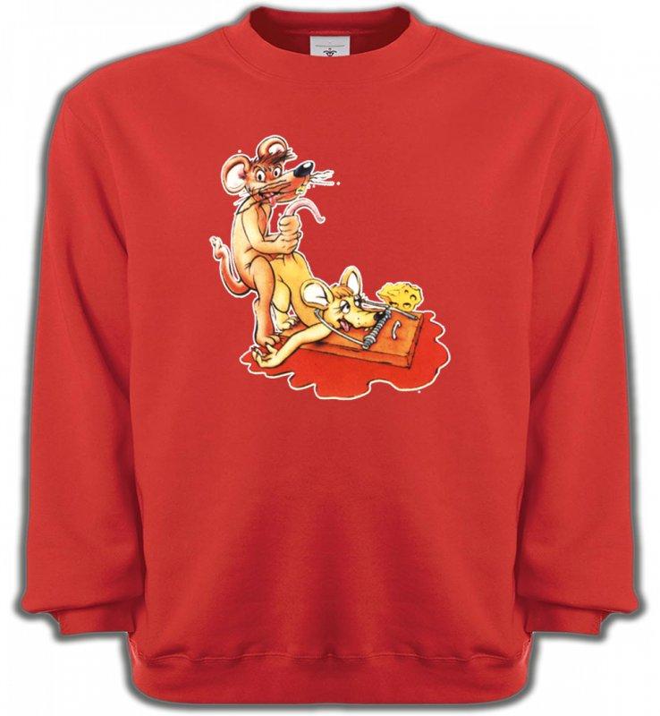 Sweatshirts UnisexeHumour/amoursouris clapet humour piège à souris   (C2)