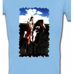 T-Shirts T-Shirts Col V Femmes Indien à cheval (P)