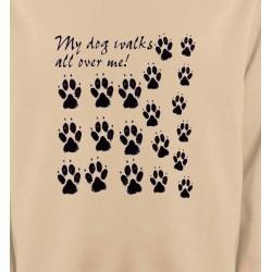 Sweatshirts Humour/amour Pattes de chien humour