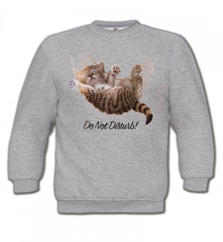 Sweatshirts EnfantsRaces de chatsChaton dans un hamac Do not disturb