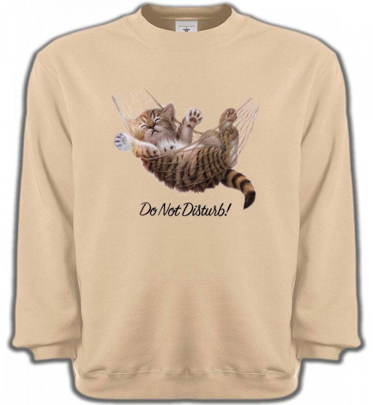 Sweatshirts UnisexeRaces de chatsChaton dans un hamac Do not disturb