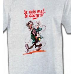 T-Shirts Humour/amour Humour Alcool je bois pas je goûte (U)