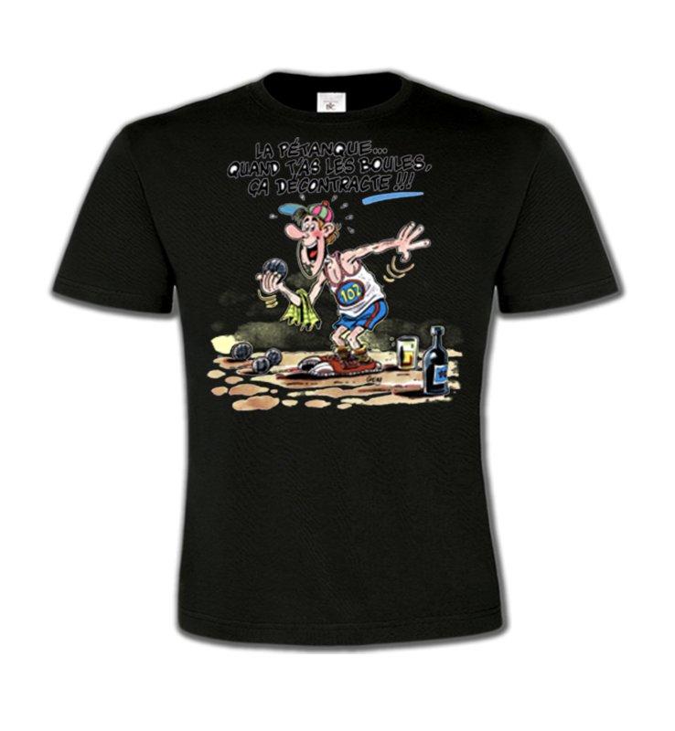 T-Shirts Col Rond EnfantsHumour/amourHumour Pétanque (B2)