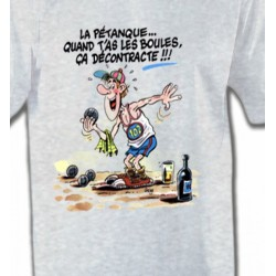 T-Shirts Humour/amour Humour Pétanque (B2)