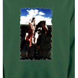 Sweatshirts Sweatshirts Unisexe Indien à cheval (P)