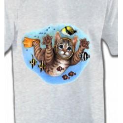 T-Shirts Races de chats Chaton plongée sous marine (D)