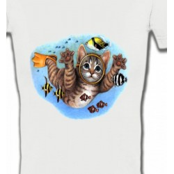 T-Shirts Humour/amour Chaton plongée sous marine (D)