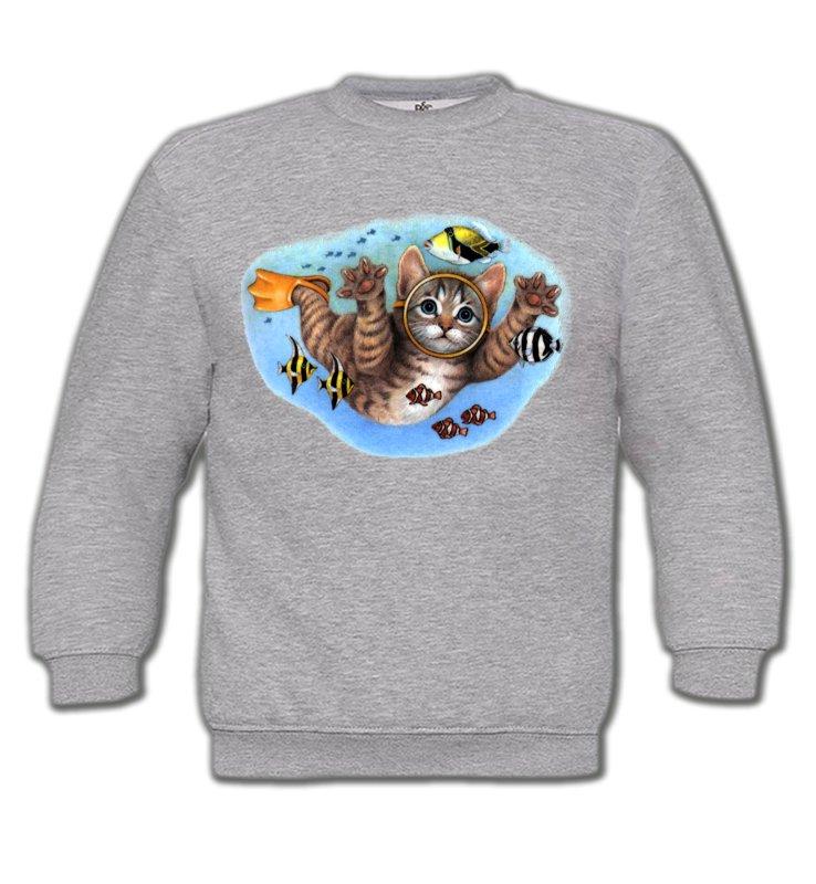 Sweatshirts EnfantsRaces de chatsChaton plongée sous marine (D)