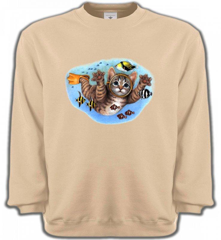 Sweatshirts UnisexeRaces de chatsChaton plongée sous marine (D)