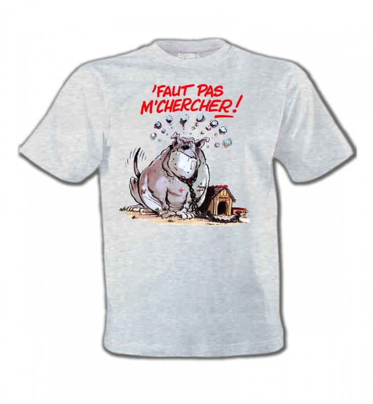 T-Shirts Col Rond EnfantsHumour/amourHumour chien (A) faut pas m'chercher
