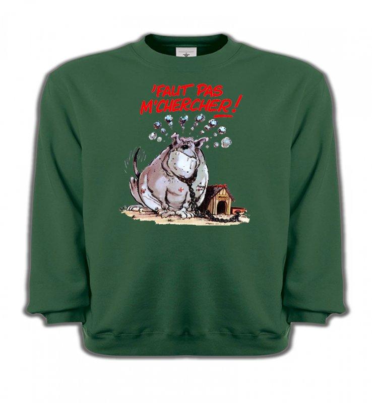 Sweatshirts EnfantsHumour/amourHumour chien (A) faut pas m'chercher