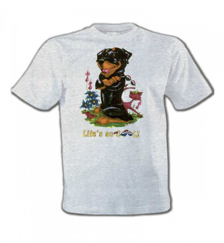 T-Shirts Col Rond EnfantsHumour/amourRottweiler Cool (O)
